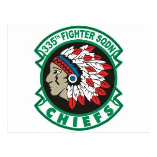 335th Fighter Squadron Chiefs Postcard