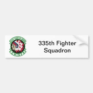 335th Fighter Squadron Insignia Car Bumper Sticker