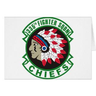 335th Fighter Squadron Insignia Card