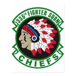 335th Fighter Squadron Insignia Postcard