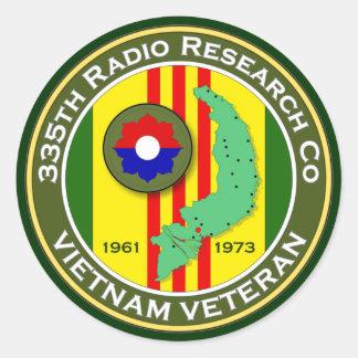 335th RRC 2 - ASA Vietnam Classic Round Sticker