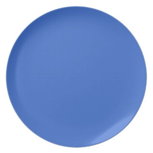 3366CC Solid Blue Background Color Template Dinner Plates