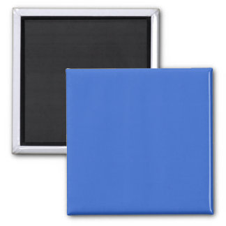 3366CC Solid Blue Background Color Template 2 Inch Square Magnet