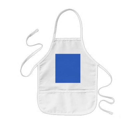 3366CC Solid Blue Background Color Template Apron