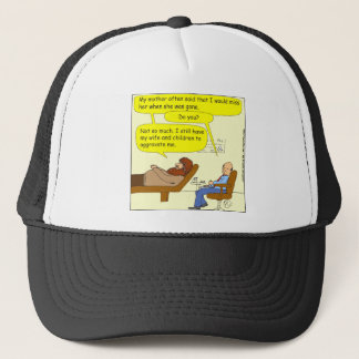 336 wife and to aggravate Cartoon Trucker Hat