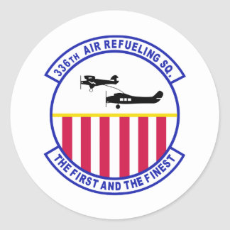 336th Air Refueling Squadron Classic Round Sticker