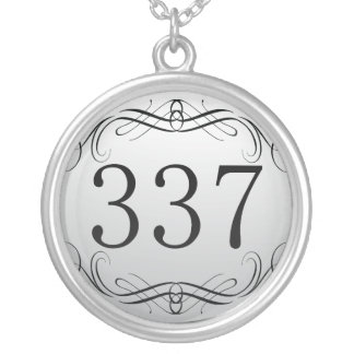 337 Area Code Silver Plated Necklace
