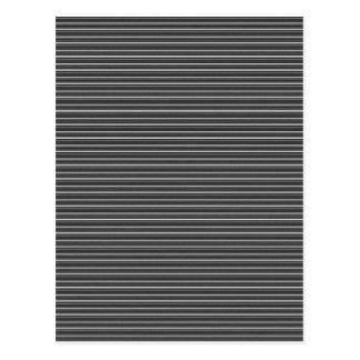 337 BLACK WHITE GREY GRAY SLENDER STRIPES CLASSIC POSTCARD