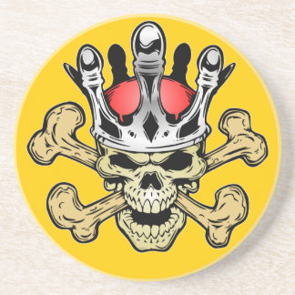 338 Skull King Color Sandstone Coaster