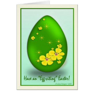 339900 Easter Card_GB_Yellow Flowers and Stars Card