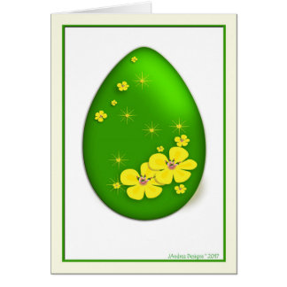 339900 Easter Egg Yellow Flowers and Stars_NG Card