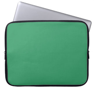 339966 Solid Green Background Laptop Sleeve