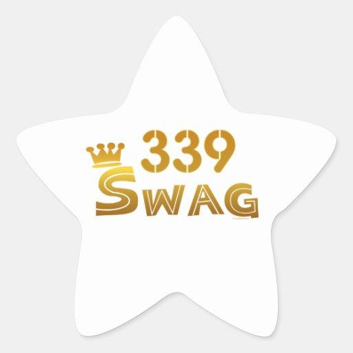 339 Massachusetts Swag Star Sticker