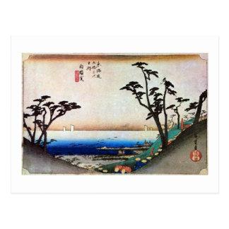 33. 白須賀宿, 広重 Shirasuka-juku, Hiroshige, Ukiyo-e Postcard
