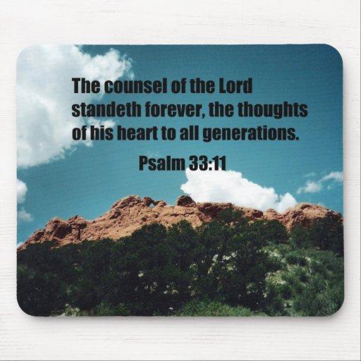 33:11 del salmo tapete de raton