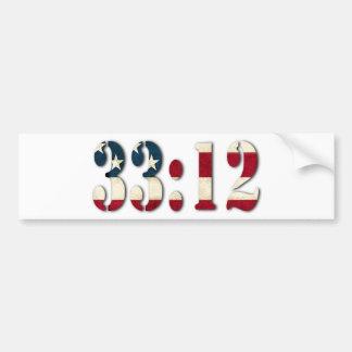 33:12 #1 BUMPER STICKER
