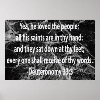 33:3 de Deuteronomy Impresiones