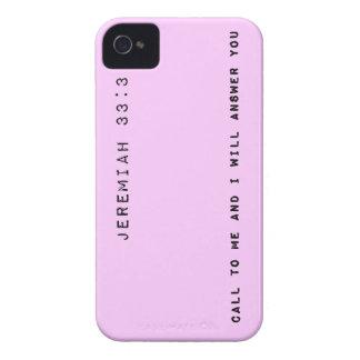 33:3 de Jeremiah, color de fondo adaptable iPhone 4 Case-Mate Carcasa