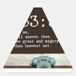 33:3 de Jeremiah Pegatina Triangular