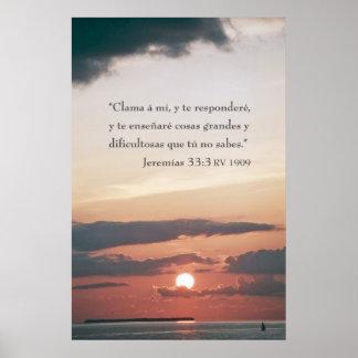 33:3 de Jeremias Póster