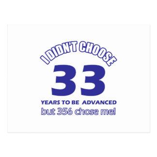 33 años de adelanto tarjeta postal