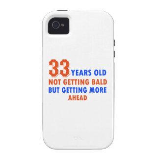33 años divertidos del diseño del cumpleaños vibe iPhone 4 fundas