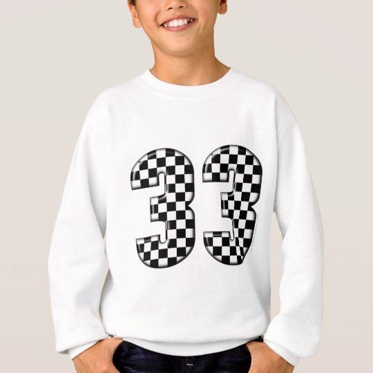 33 auto racing number sweatshirt