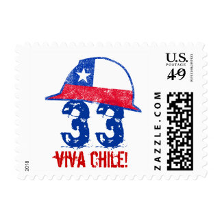 33 Chilean Miners Postage