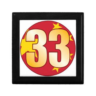 33 CHINA Gold Keepsake Box