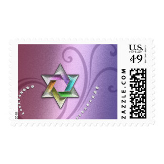 33 Colors Star of David Rainbow with Crystals Stamps