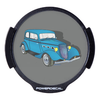 33 Ford Victoria - Blue LED Car Window Decal