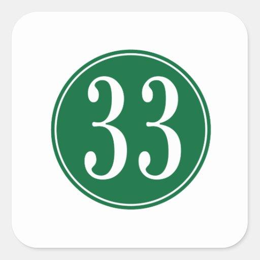 #33 Green Circle Sticker