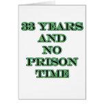 33 ninguna hora de prisión tarjeta