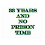 33 ninguna hora de prisión tarjetas postales