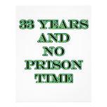 33 ninguna hora de prisión tarjetones