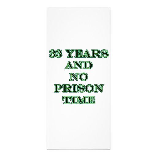 33 No prison time Rack Cards