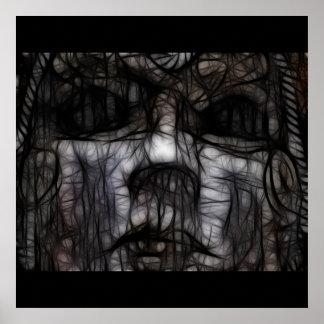 33 - Obscuro manchado de tinta Poster