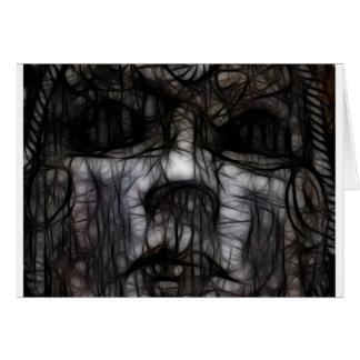 33 - Obscuro manchado de tinta Tarjeta De Felicitación