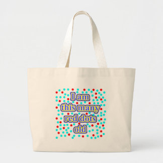 33 Red Dots Old Large Tote Bag