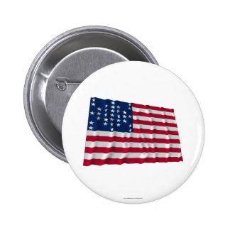 33-star flag, Fort Sumter storm pattern Pinback Button