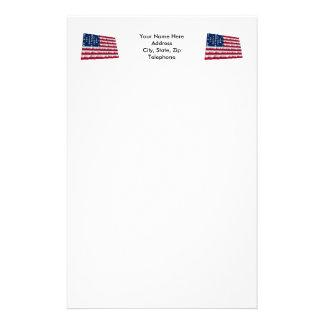 33-star flag, Fort Sumter storm pattern Stationery