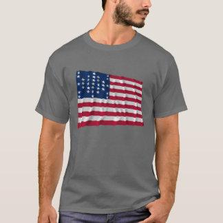 33-star flag, Fort Sumter storm pattern T-Shirt