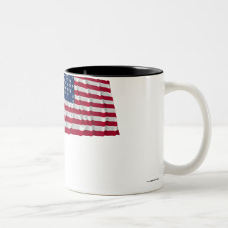 33-star flag, Fort Sumter storm pattern Two-Tone Coffee Mug