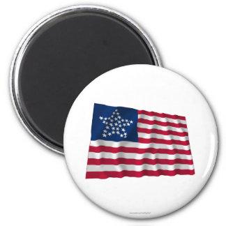 33-star flag, Great Star pattern 2 Inch Round Magnet