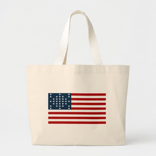 33 Star Fort Sumter American Civil War Flag Large Tote Bag