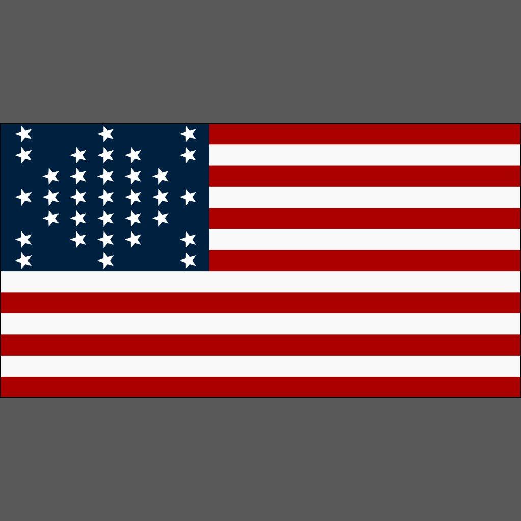 Union Flag Civil War Coloring Page