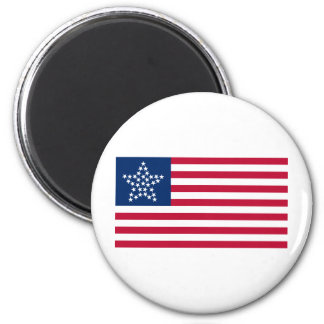33 Star Great Star Oregon State American Flag 2 Inch Round Magnet