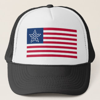 33 Star Great Star Oregon State American Flag Trucker Hat