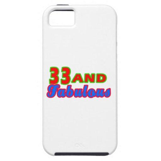 33 y diseños fabulosos del cumpleaños iPhone 5 Case-Mate fundas