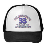 33 year old birthday designs and gifts trucker hat